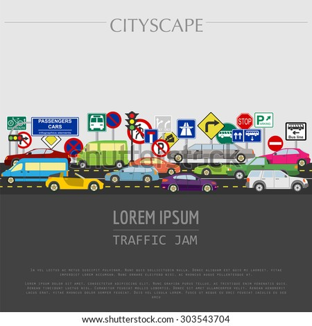 cityscape graphic template