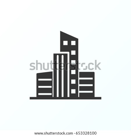 Cityscape icon illustration isolated vector sign symbol