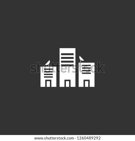 cityscape icon vector. cityscape sign on black background. cityscape icon for web and app