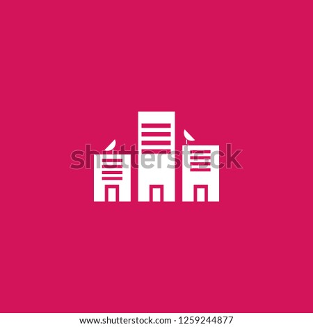 cityscape icon vector. cityscape sign on pink background. cityscape icon for web and app