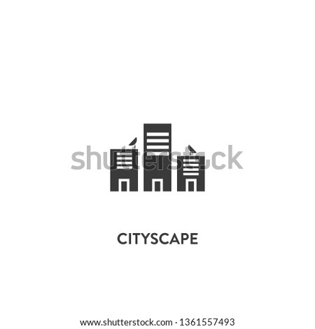 cityscape icon vector. cityscape sign on white background. cityscape icon for web and app