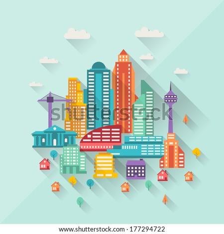 cityscape illustration with