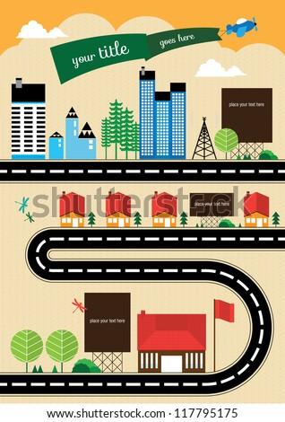 Cityscape Info Graphics Charts, Symbols, Graphic Elements, Map