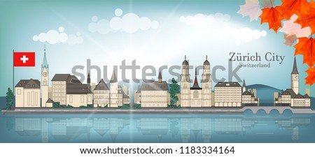 cityscape of zurich city