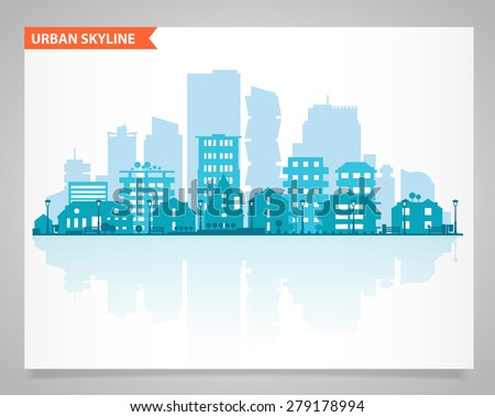 cityscape set with various