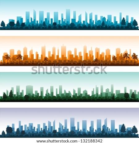 cityscape silhouette city