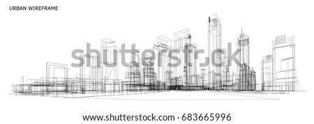 cityscape sketch  vector sketch