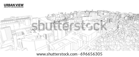 cityscape sketch  vector sketch