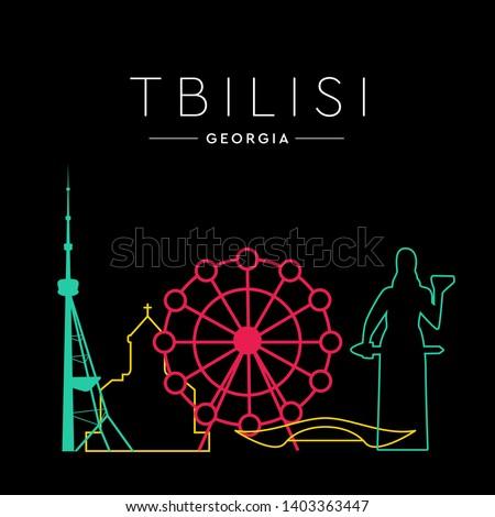 cityscape  tbilisi city