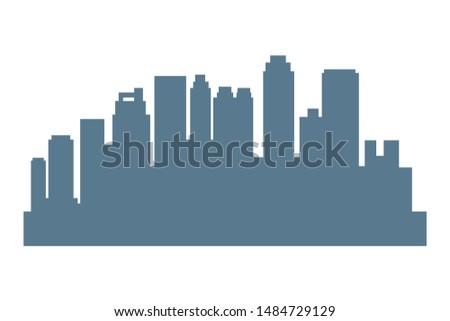 Cityscape urban city edifices,skyscrapers and business buildings vector illustration graphic design.