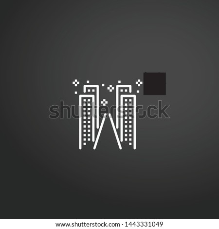 Cityscape vector icon. Cityscape concept stroke symbol design. Thin graphic elements vector illustration, outline pattern for your web site design, logo, UI. EPS 10.