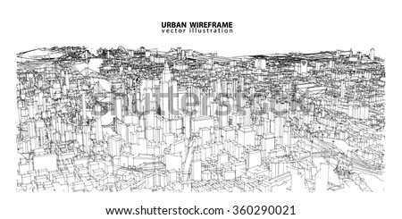 cityscape vector sketch