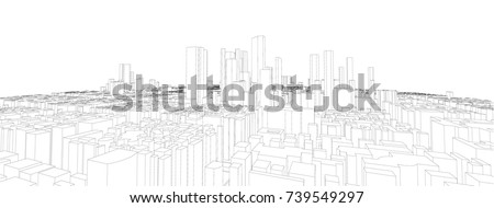 cityscape vector sketch