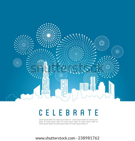 cityscape with celebration