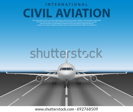civil passenger airliner jet on