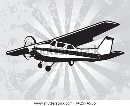 Cessna Airplane Vector Download Free Vector Art Stock Graphics