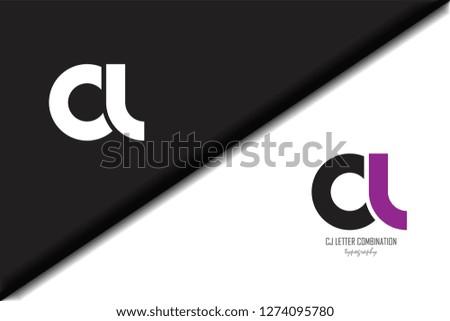 cl c l circle letter black purple white lowercase combination modern creative alphabet gradient company letter logo design vector icon template trendy - Vector Stock fotó ©