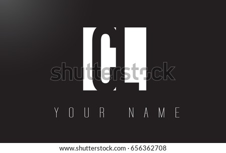 CL Letter Logo With Black and White Letters Negative Space Design.