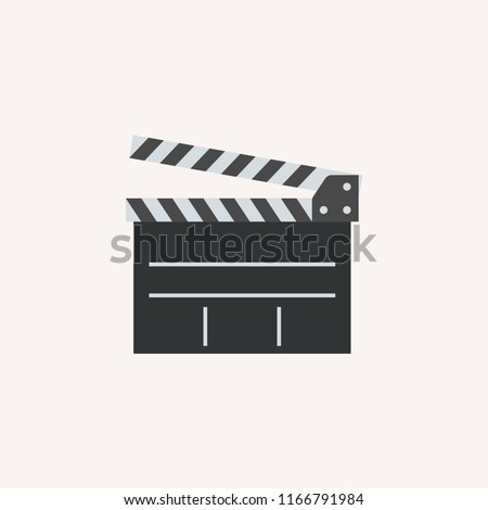 Clapper board Cinema Movie Clapper Film Board concept line icon. Simple element illustration. Clapper board Cinema Movie Clapper Film Board concept outline symbol design. Can be used for web and mobil