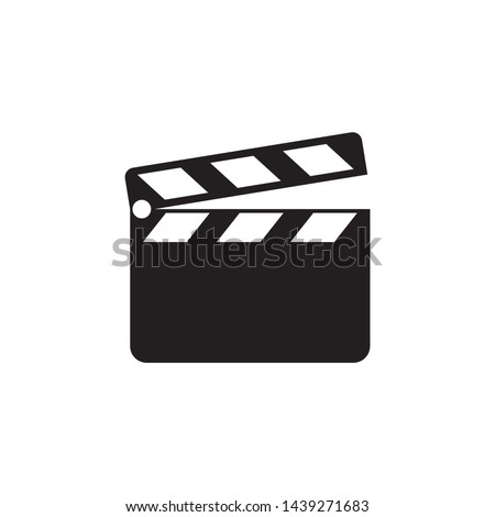 Clapper Icon Flat Vector Illustration
