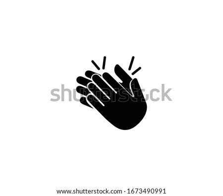 Clapping hands gesture emoji vector isolated icon illustration. Clapping hands emoticon