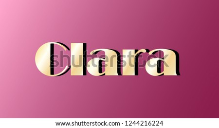 clara gold shining name