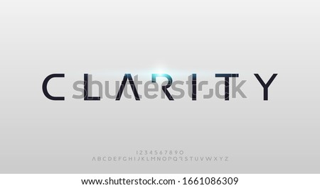 Clarity, an abstract technology futuristic alphabet font. digital space typography vector illustration design