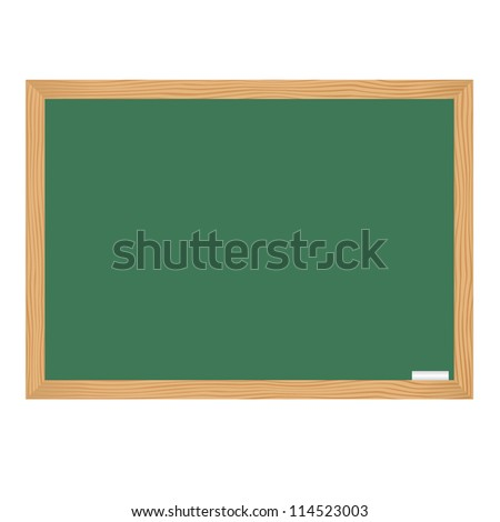 Class board with chalk - stock vector