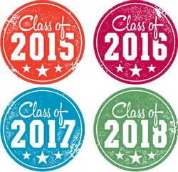 Class of 2015, 2016, 2017 and 2018 Stamps
