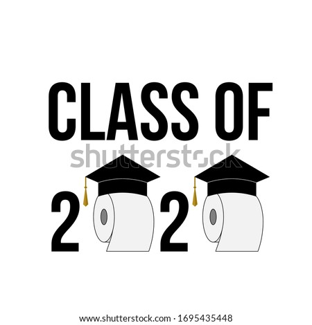 class of 2020 funny typography