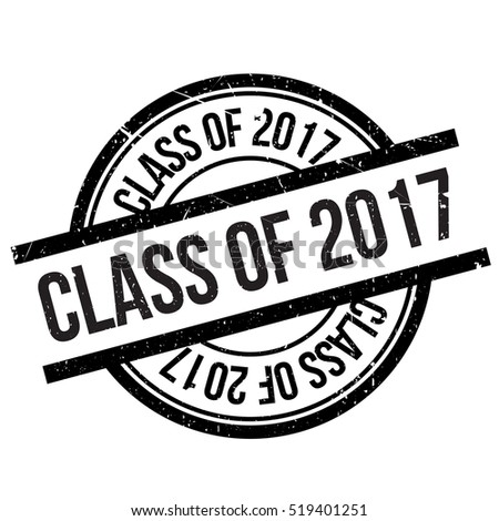 class of 2017 stamp grunge