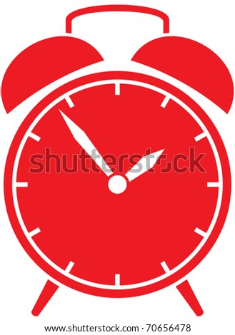 Classic alarm clock - stock vector