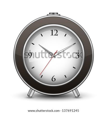 Classic alarm clock. Vector illustration