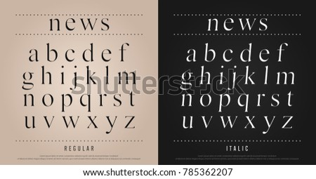 classic alphabet letters set. Exclusive Custom Letters. alphabet designs for logo, Poster, Invitation, etc. Typography font classic style, regular and italic vector illustrator