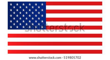 Classic American Flag. Classic USA flag.