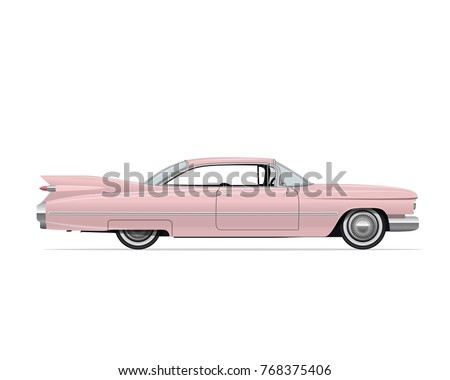 classic american vintage pink