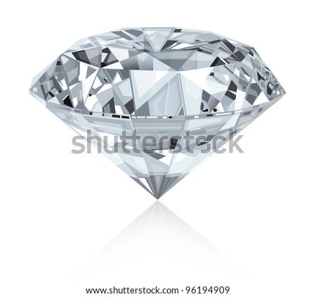 Classic and realistic diamond.Vector.