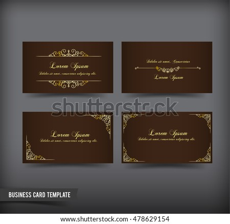 Elegant business card design download free vector art stock classic and vintage style business card template vector illustration colourmoves