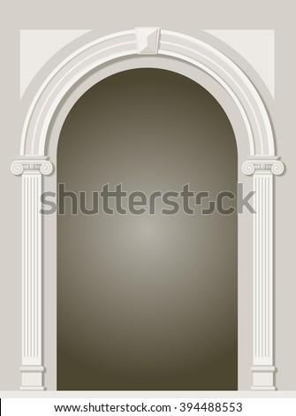 classic antique arch portal...