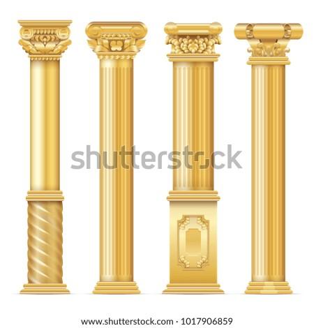 classic antique gold columns...