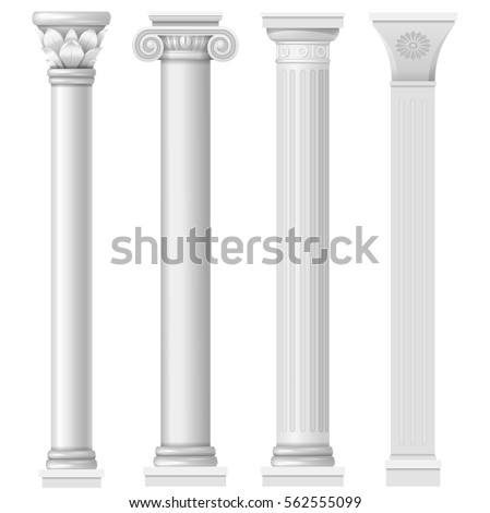 classic antique white columns...