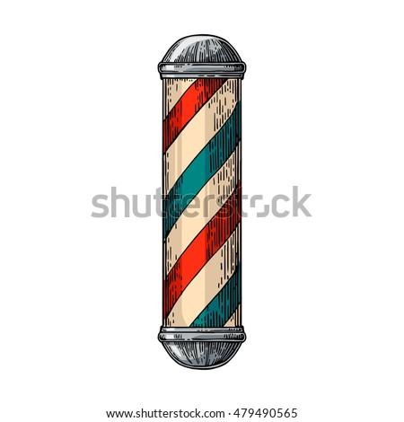 classic barber shop pole....