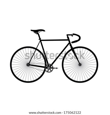 classic bicycle vector