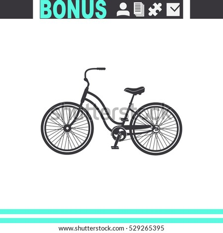 classic bicycle vector icon