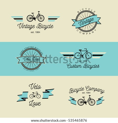 classic bicycle vector label...