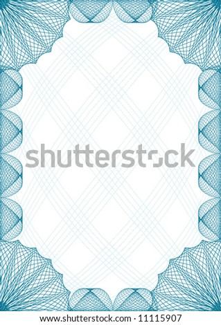 Gold Certificate Border