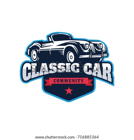 Retro And Classic Car Logo Template Vector With Emblem Style Ez Canvas