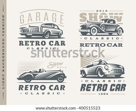 classic car logo illustrations