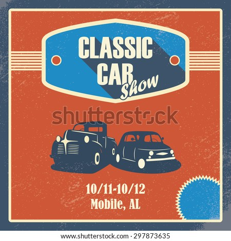classic car show poster old