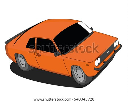 classic car vector orange
